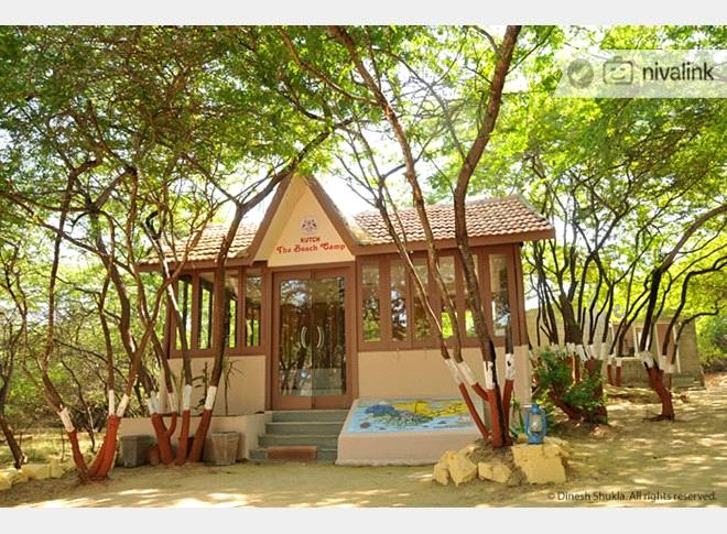 Beach Camp At Mandvi Is Situated Next To Palace On The Secluded And Clean